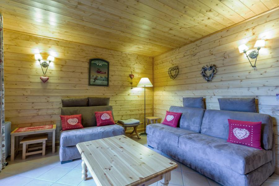 Ski verhuur Appartement 3 kamers 6 personen (018) - Résidence Lama - Méribel-Mottaret - Woonkamer