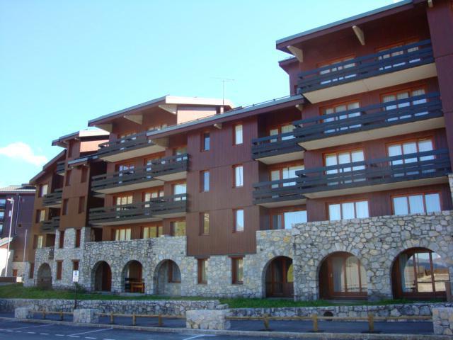 Location au ski Appartement 2 pièces 5 personnes (15) - Résidence le Creux de l'Ours A - Méribel-Mottaret - Extérieur hiver