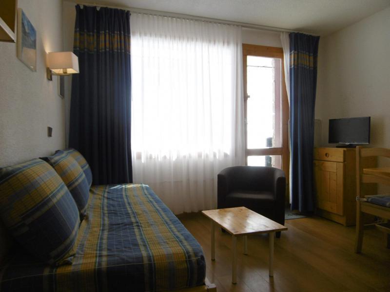 Ski verhuur Appartement 2 kamers 5 personen (039) - Résidence le Creux de l'Ours D - Méribel-Mottaret - Woonkamer