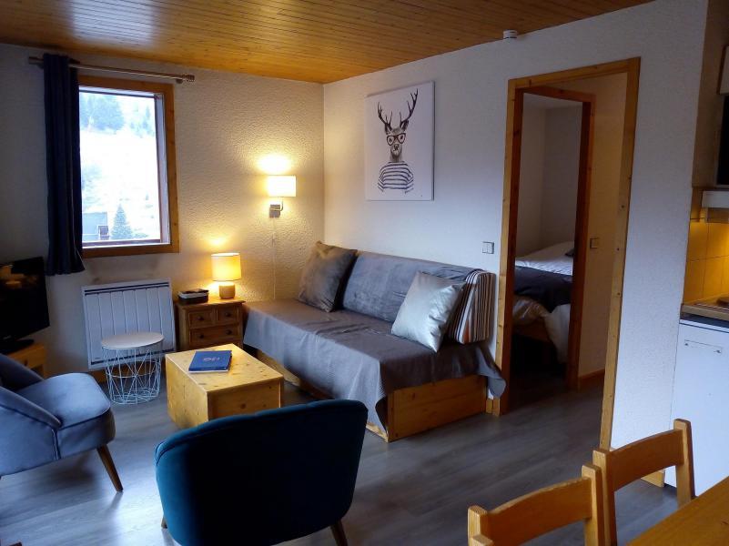 Ski verhuur Appartement 3 kamers 6 personen (003) - Résidence le Florilège - Méribel-Mottaret - Woonkamer