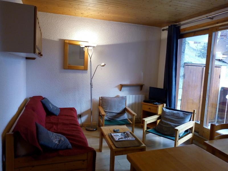 Ski verhuur Appartement 3 kamers 6 personen (004) - Résidence le Florilège - Méribel-Mottaret - Woonkamer