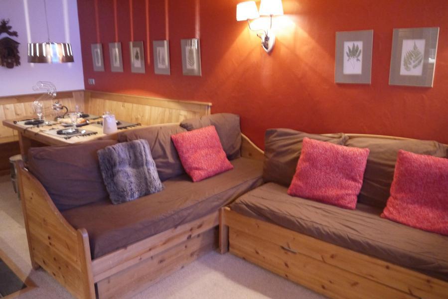 Ski verhuur Appartement 2 kamers 5 personen (810) - Résidence le Plein Soleil - Méribel-Mottaret - Woonkamer