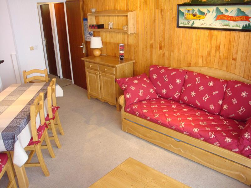 Ski verhuur Appartement 2 kamers 5 personen (401) - Résidence le Ruitor - Méribel-Mottaret - Woonkamer