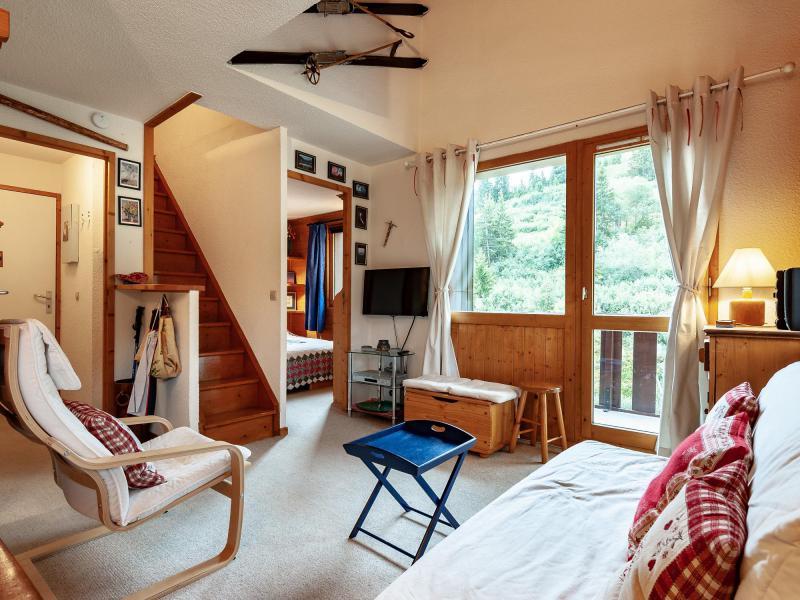 Ski verhuur Appartement 4 kamers 6 personen (F07) - Résidence les Cimes I - Méribel-Mottaret - Woonkamer