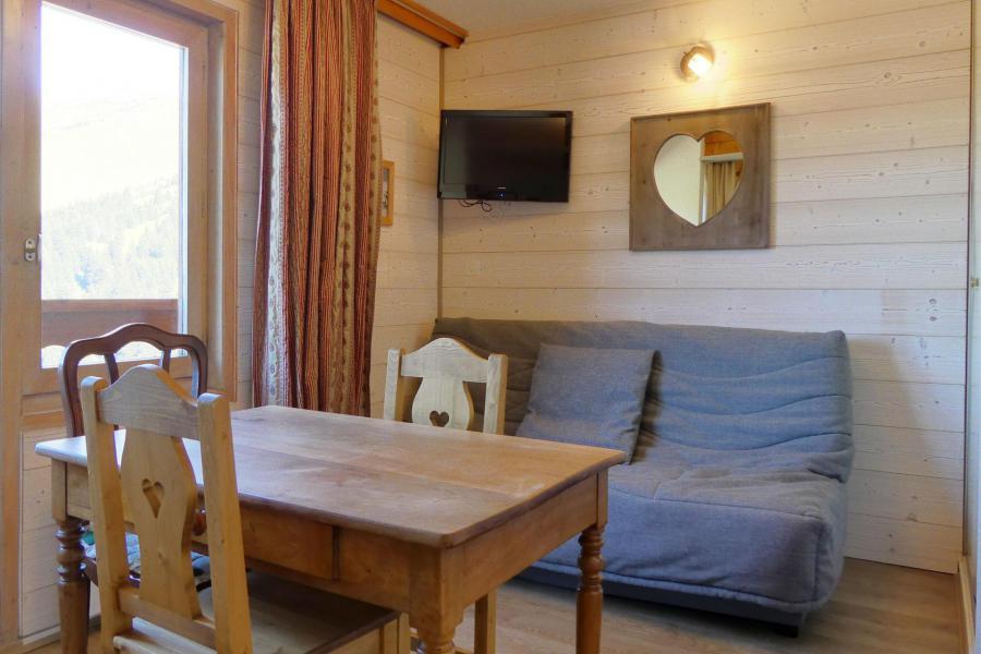 Location au ski Studio 3 personnes (034) - Résidence Mont Vallon - Méribel-Mottaret - Séjour