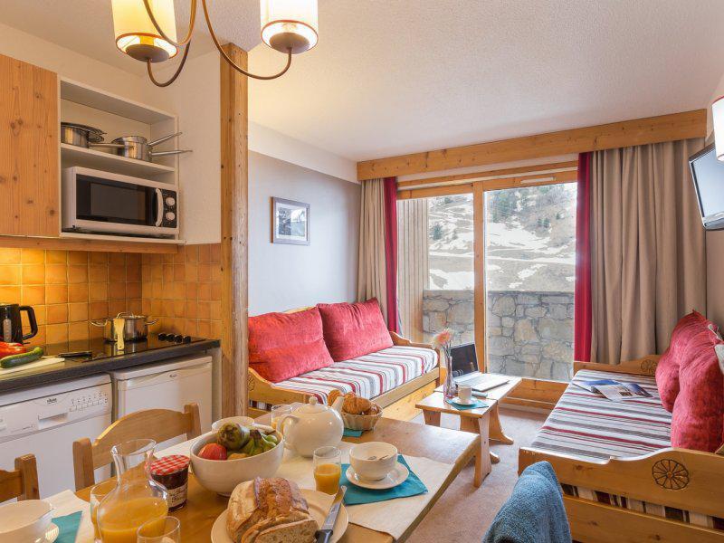 Alquiler al esquí Apartamento 2 piezas 2-4 personas - Résidence Pierre & Vacances les Sentiers du Tueda - Méribel-Mottaret