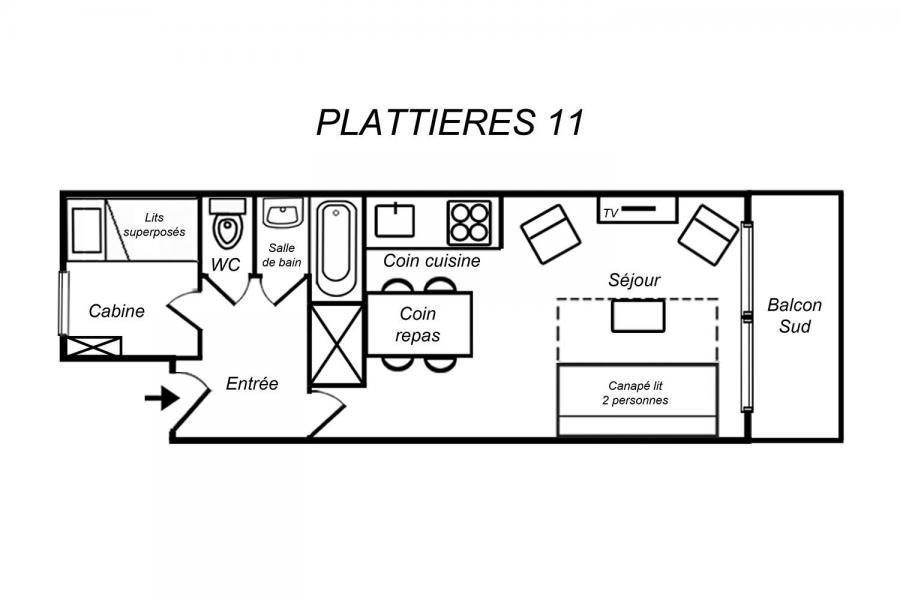 Ski verhuur Appartement 2 kamers 4 personen (11) - Résidence Plattières - Méribel-Mottaret