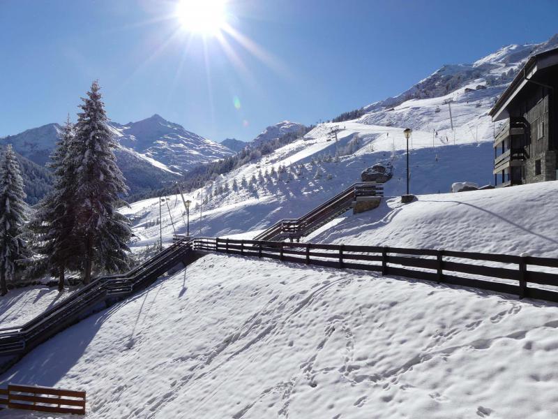 Location au ski Studio 3 personnes (601) - Résidence Plein Soleil - Méribel-Mottaret - Extérieur hiver