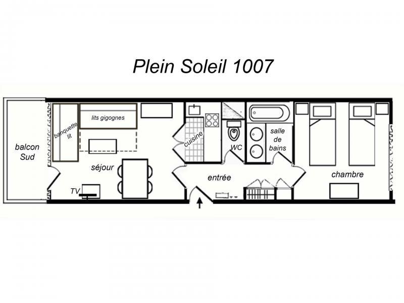 Location au ski Appartement 2 pièces 5 personnes (1007) - Résidence Plein Soleil - Méribel-Mottaret
