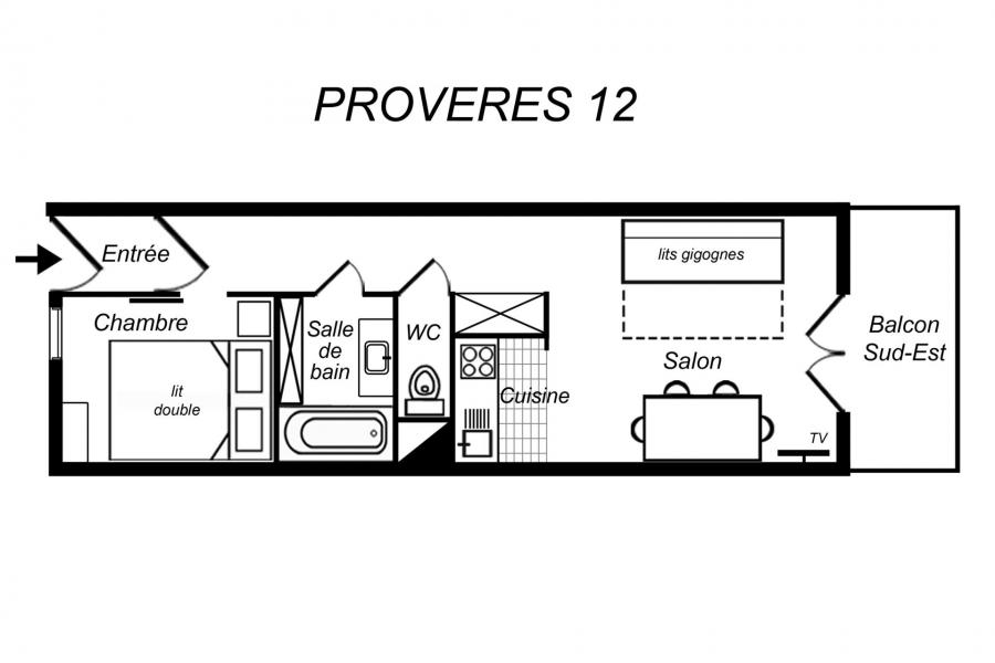 Location au ski Appartement 2 pièces 4 personnes (012) - Résidence Provères - Méribel-Mottaret