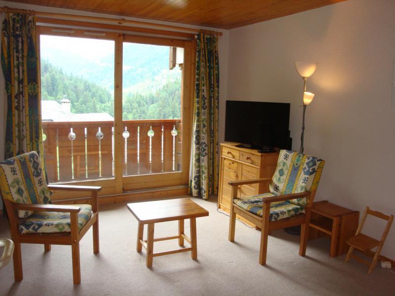 Ski verhuur Appartement 3 kabine kamers 6 personen (013) - Résidence Sérac - Méribel-Mottaret - Woonkamer