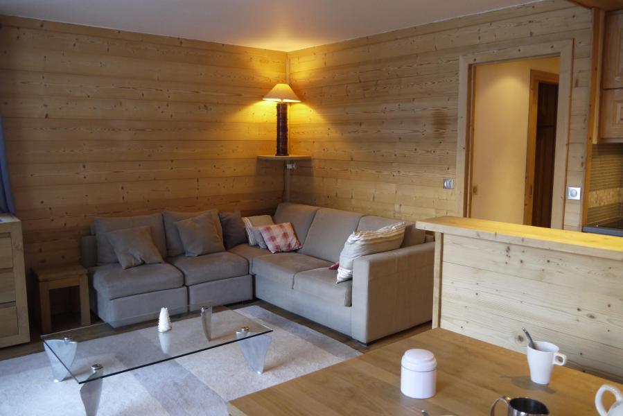 Ski verhuur Appartement 3 kabine kamers 7 personen (007) - Résidence Sérac - Méribel-Mottaret - Woonkamer