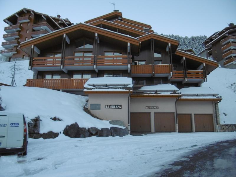 Location au ski Résidence Sherpa - Méribel-Mottaret - Extérieur hiver