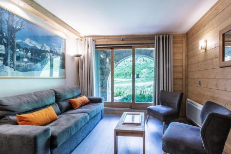 Ski verhuur Appartement 3 kamers 7 personen (022) - Résidence Arpasson - Méribel-Mottaret - Woonkamer