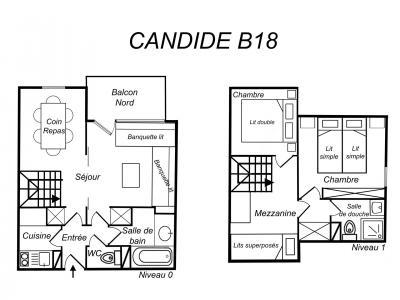 Location au ski Appartement duplex 3 pièces 6 personnes (B18) - Résidence Candide - Méribel-Mottaret