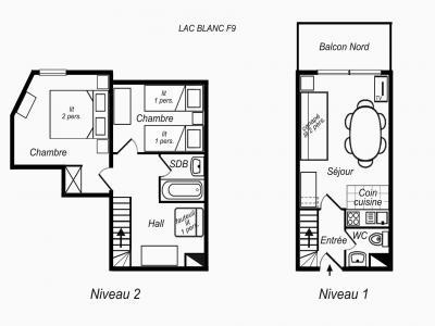 Location au ski Appartement duplex 3 pièces 6 personnes (F9) - Résidence Lac Blanc - Méribel-Mottaret