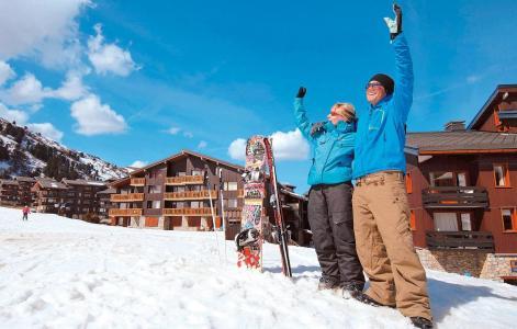 Vacances en montagne Résidence le Hameau du Mottaret - Méribel-Mottaret - Extérieur hiver
