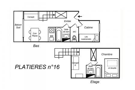 Location au ski Appartement duplex 3 pièces cabine 5 personnes (16) - Résidence Plattières - Méribel-Mottaret