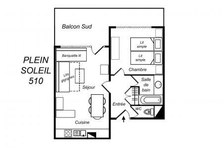 Location au ski Appartement 2 pièces 5 personnes (510) - Résidence Plein Soleil - Méribel-Mottaret