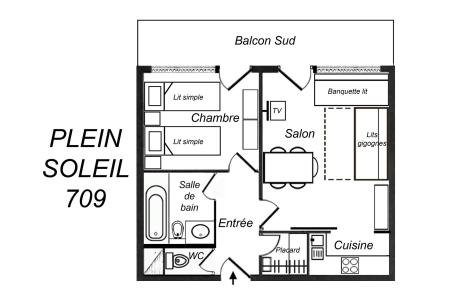 Location au ski Appartement 2 pièces 5 personnes (709) - Résidence Plein Soleil - Méribel-Mottaret