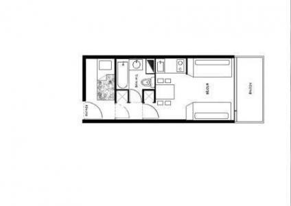 Location au ski Studio 4 personnes (386) - Résidence Pralin - Méribel-Mottaret