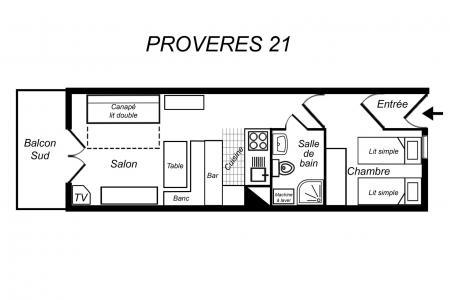 Location au ski Appartement 2 pièces 4 personnes (021) - Résidence Provères - Méribel-Mottaret