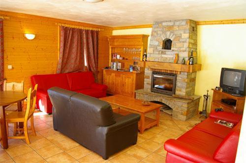 Location au ski Chalet 6 pièces 12 personnes (DGB) - Chalet Vallon - Méribel - Cheminée