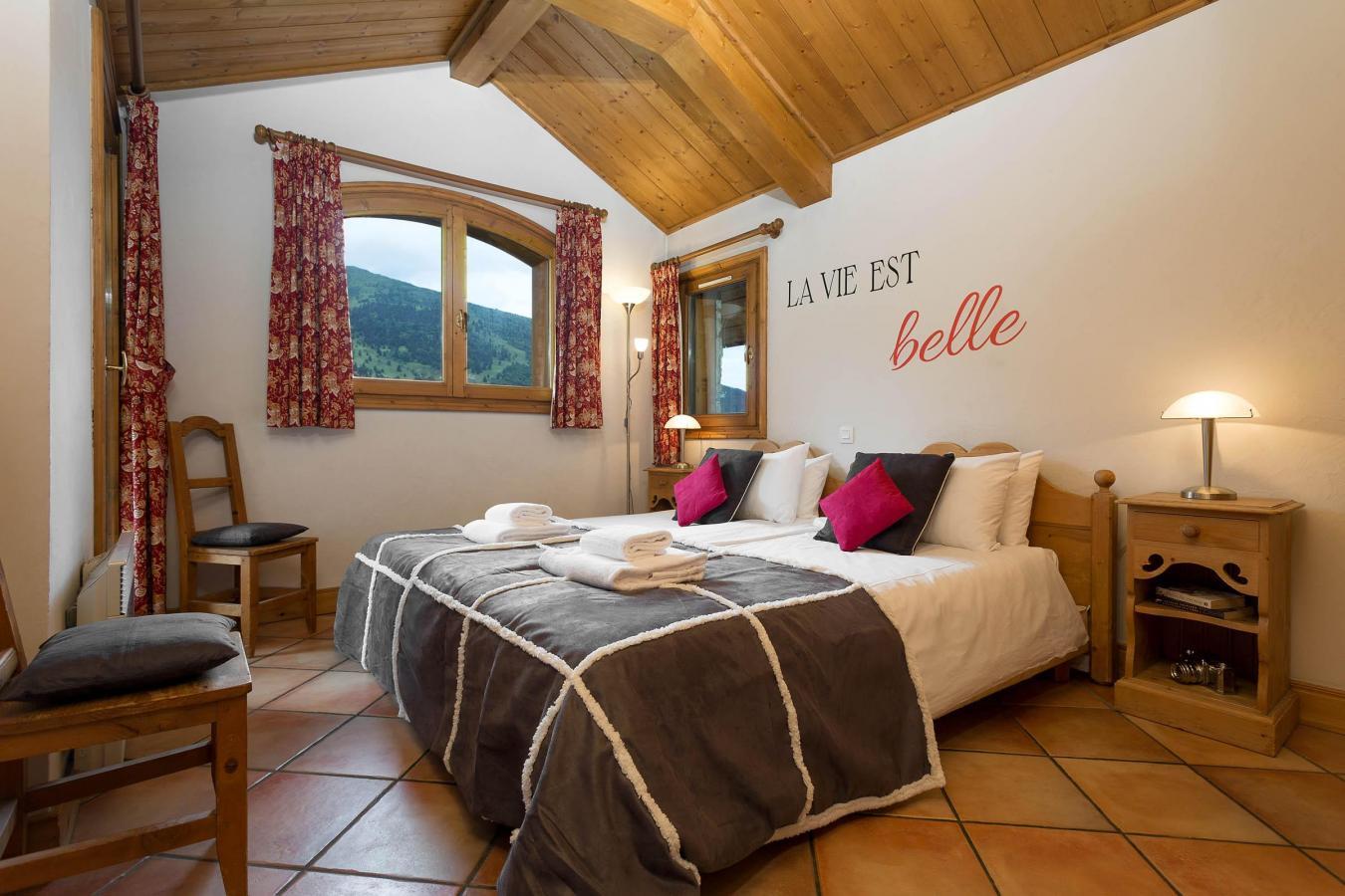 Location au ski Chalet Vallon - Méribel - Chambre