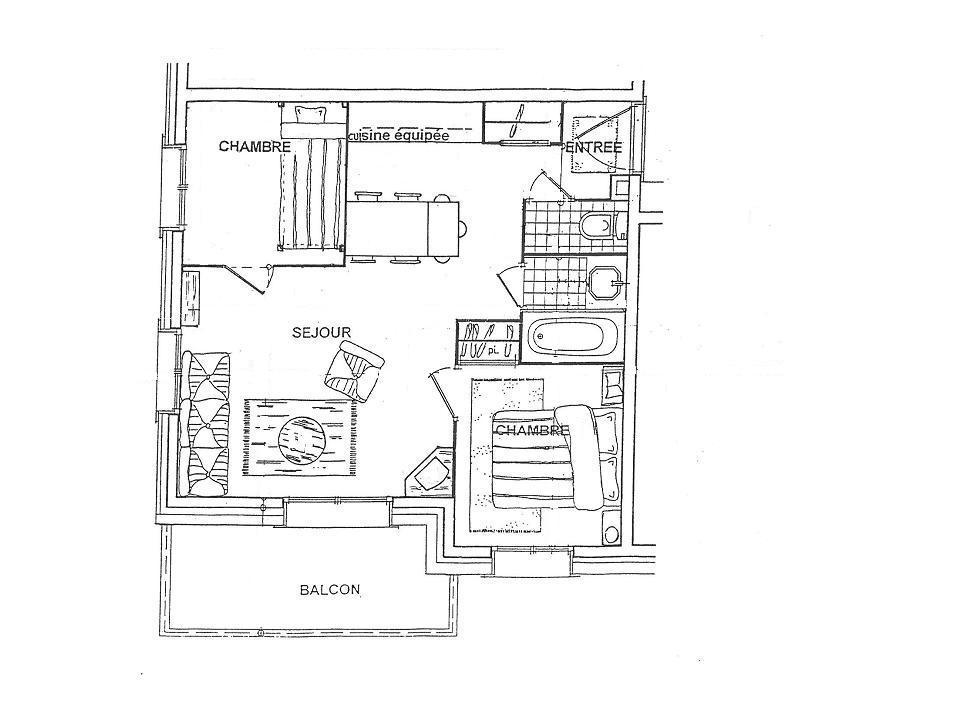 Location au ski Appartement 3 pièces 4 personnes (6D R) - Residence Bergerie Des 3 Vallees D - Méribel