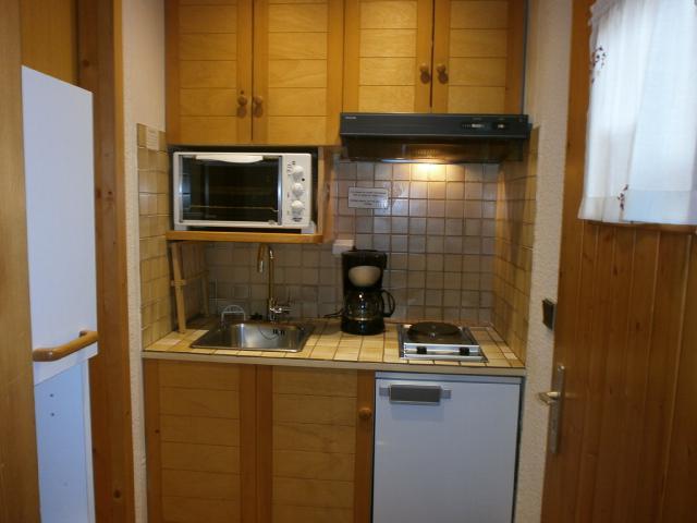 Location au ski Studio 2 personnes (1 BIS) - Residence Le Vallon - Méribel - Kitchenette