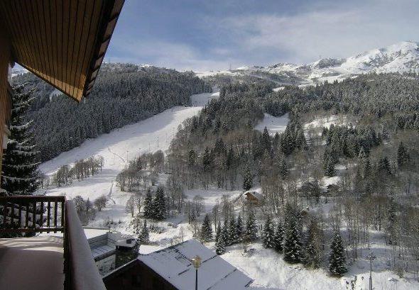 Location au ski Studio 2 personnes (1 BIS) - Residence Le Vallon - Méribel - Terrasse