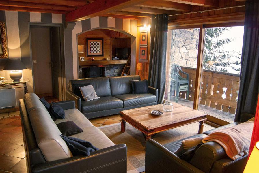 Location au ski Chalet Etienne - Méribel - Canapé
