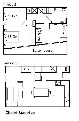 Location au ski Chalet duplex 4 pièces 8 personnes - Chalet La Gittaz - Méribel - Plan