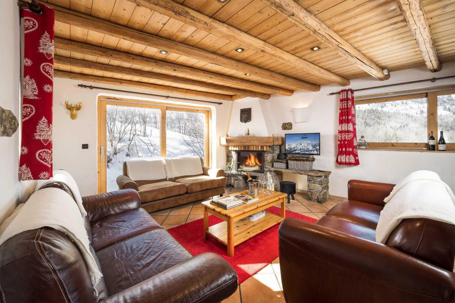 Аренда на лыжном курорте Chalet Lou Traves - Méribel - Камин
