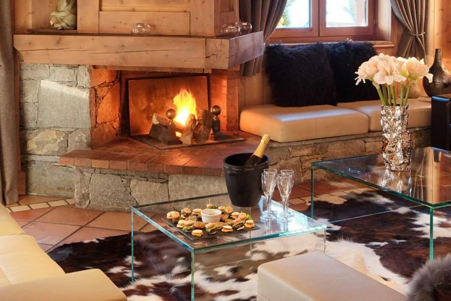 Аренда на лыжном курорте Chalet Marielaine - Méribel - Камин
