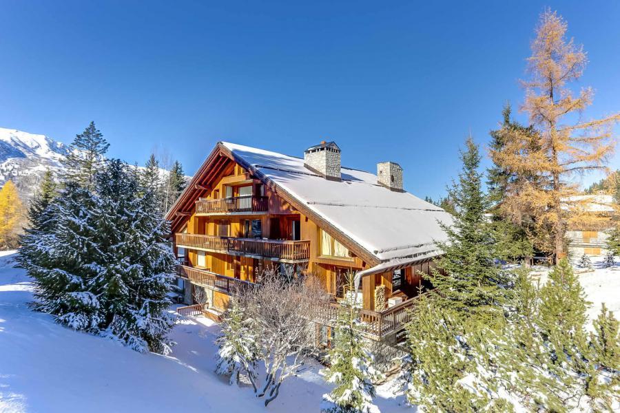 Location au ski Résidence Chasseforêt - Méribel - Extérieur hiver