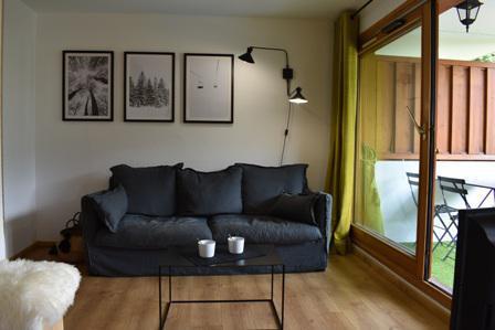 Location au ski Appartement 3 pièces 5 personnes (50) - Résidence Cristal - Méribel - Canapé