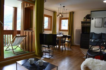 Location au ski Appartement 3 pièces 5 personnes (50) - Résidence Cristal - Méribel - Séjour