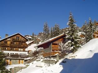 Skiverleih 3-Zimmer-Appartment für 6 Personen - Résidence Ermitage - Méribel - Draußen im Winter