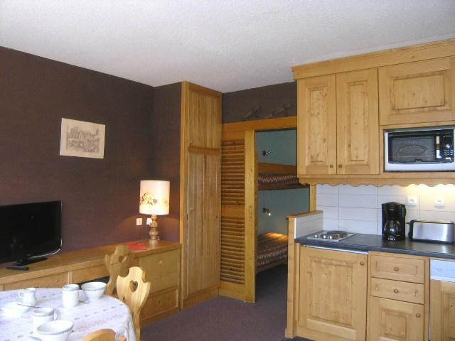 Location au ski Studio 4 personnes (5H) - Résidence Frasse - Méribel - Kitchenette