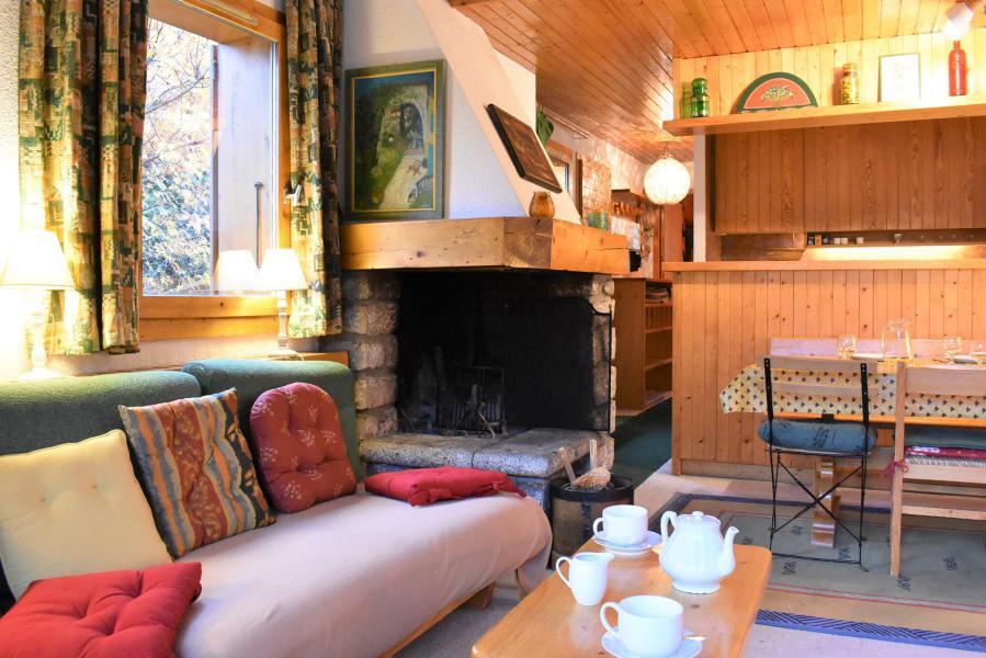 Alquiler al esquí Apartamento dúplex 3 piezas 6 personas (19) - Résidence le Chasseforêt - Méribel - Chimenea