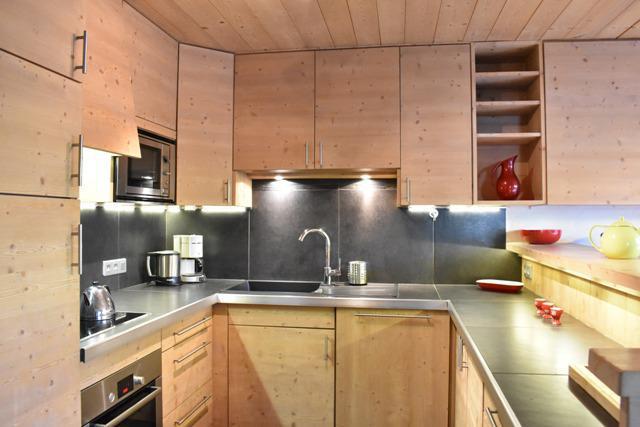 Location au ski Appartement 4 pièces 6 personnes (1) - Résidence le Chasseforêt - Méribel - Cuisine