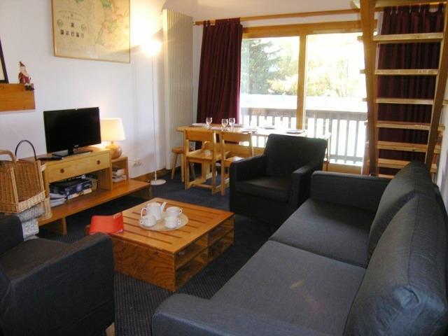 Location au ski Appartement duplex 3 pièces 6 personnes (20) - Residence Le Chasseforet - Méribel - Séjour