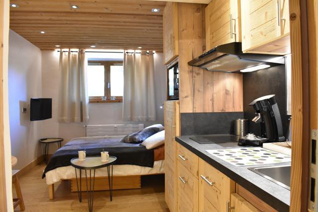 Location au ski Studio 2 personnes (6) - Résidence le Chasseforêt - Méribel - Kitchenette