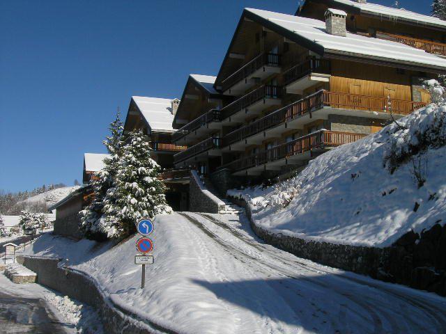 Location au ski Appartement 2 pièces 4 personnes (9) - Résidence le Genèvrier - Méribel - Extérieur hiver