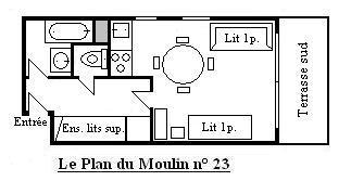 Location au ski Studio 4 personnes (23) - Résidence le Plan du Moulin - Méribel