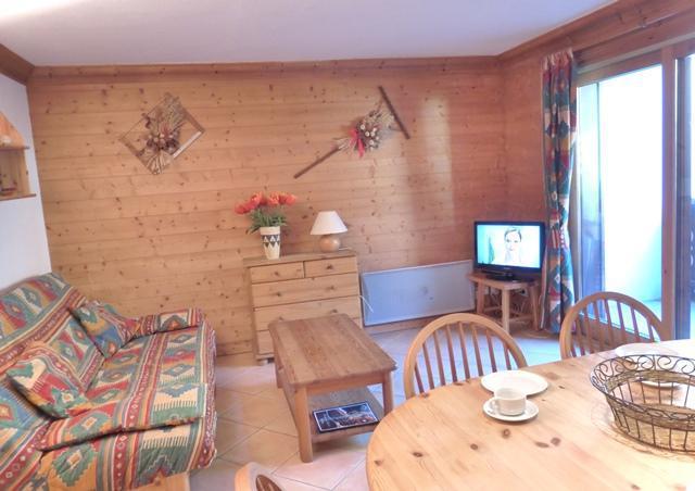 Skiverleih 3-Zimmer-Appartment für 6 Personen (B7) - Résidence les Jardins du Morel - Méribel - Wohnzimmer