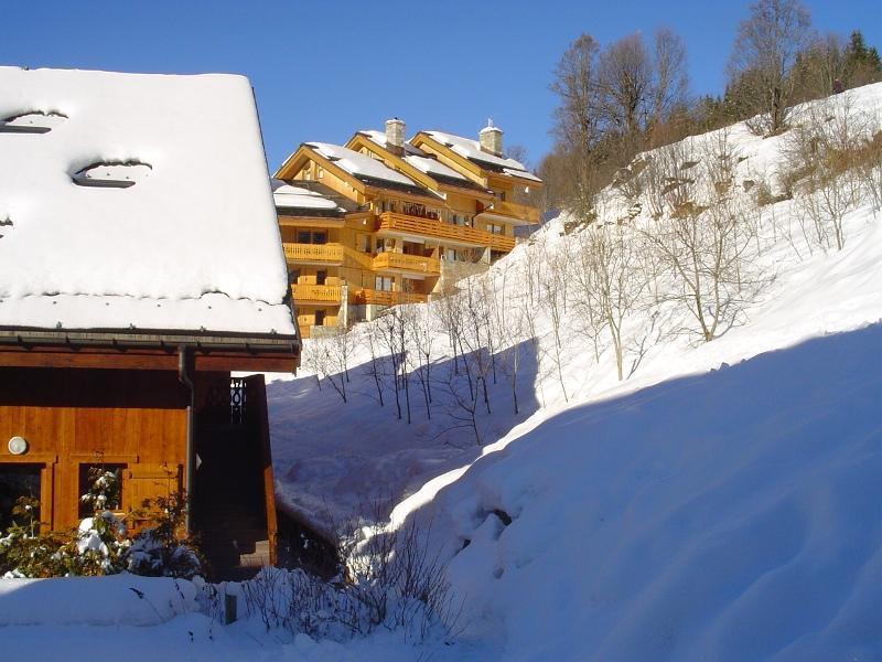 Location au ski Appartement 3 pièces 6 personnes (A6) - Residence Les Jardins Du Morel - Méribel - Extérieur hiver