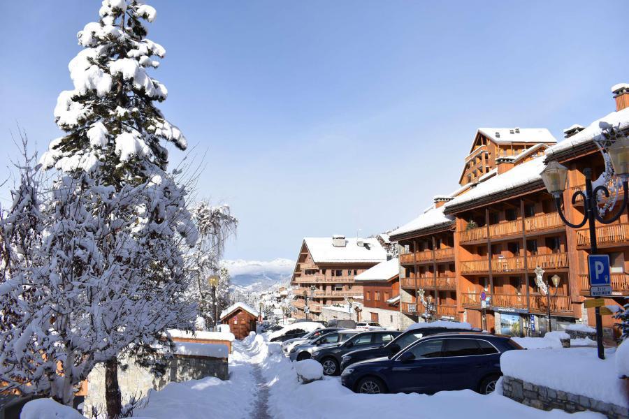 Location au ski Appartement 3 pièces 7 personnes (16) - Résidence les Silènes - Méribel - Extérieur hiver