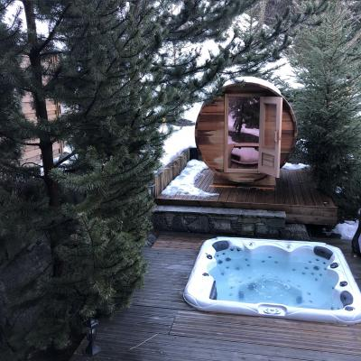 Location au ski Chalet Brioche - Méribel - Bain à remous